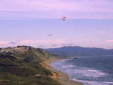 Hang Gliding Over Ocean  Marin County  CA