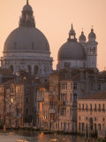 Buildings and Basilica on Grand Canal  Venice  Italy