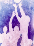 Silhouette of Basketball Game