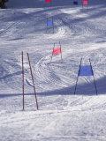 Slalom Ski Race Course