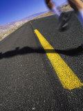 Jogger on Desert Road