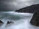 Trevose Lighthouse in a Storm  Cornwall  UK