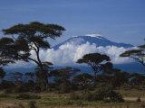 Kenya, Mount Kilimanjaro Reproduction d'art par Michele Burgess