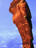 Man Rock Climbing  Canyonlands  UT
