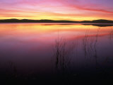 Sunrise on Klamath Lake Wild Refuge  CA