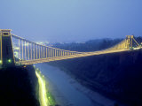 Bristol Suspension Bridge at Night  England  UK
