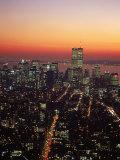 Aerial of Midtown NYC at Dusk  NY