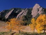 The Flatirons  Boulder  Colorado