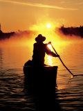 Sunrise Canoeing  Boundary Waters Canoe Area  MN