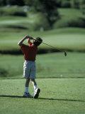 Young Boy Playing Golf  Breckenridge  CO