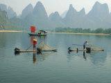 Fishermen on Bamboo Rafts  China