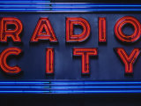 Sign for Radio City Music Hall  NYC