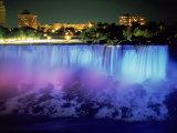 Niagara Falls with Blue Light  NY