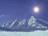 The Flatirons Near Boulder  CO  Winter