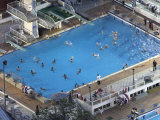 Water Polo Game in Swimming Pool as Seen from the Cairo Tower  Egypt