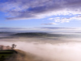 Misty Morning View from Glastonbury Tor  UK