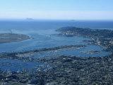 Navy Destroyer Cruising Past Point Lamp  San Diego