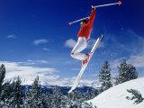Alpine Skier Airborne  Breckenridge  CO