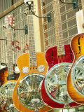 Showcase Displaying Dobro Resonating Guitars