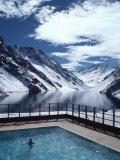 Pool and Lake Inca  Portillo Ski Resort  Chile