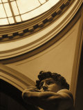 Close-up of Michelangelo's Statue of David  Italy