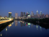Skyline and Schuykill River  Philadelphia  PA