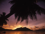 Tropical Beach at Sunset  the Seychelles