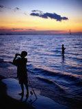 Boys Fishing  Lake Erie  OH