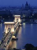 Chain Bridge at Night  Budapest  Hungary
