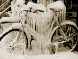 Ice Covered Bicycle  Wisconsin