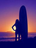 Surfer Girl  Silhouette