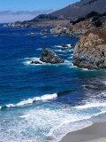 La côte Pacifique à Big Sur, Californie Papier Photo par Harvey Schwartz