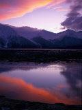 Sunset on Turnagain Arm  South Central Alaska