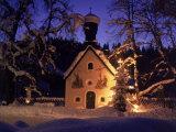 Christmas Chapel Model  Bavaria  Germany