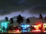 View of South Beach at Night  Miami  FL