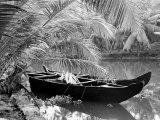 Kovalum  Kerala  India  Boat in Village