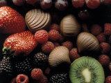 Strawberries  Raspberries and Kiwis