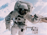 Astronaute dans l'espace Papier Photo par David Bases