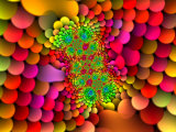Abstract Multi-Coloured Fractal Design