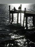 Early Morning Fishing  Cedar Key Pier  FL