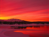 Sunset at Boca Reservoir  Truckee  CA