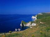 Durdle Door Coastline  Weymouth Bay  Dorset  UK