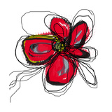 Red Butterfly Flower