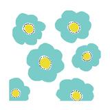 Aqua Pop Flowers