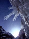 Sunlight Glints on the Bearded Face of Gangotri Glacier