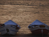 Two Wooden Dories on the Shore of the Colorado River