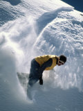 A Man Snowboarding in the San Francisco Peaks