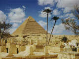 The Great Pyramid of Cheops Seen Behind an Arab Cemetery