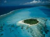 Aerial View of Saipan Island in Micronesia