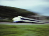 A Blurred View of a Bullet Train